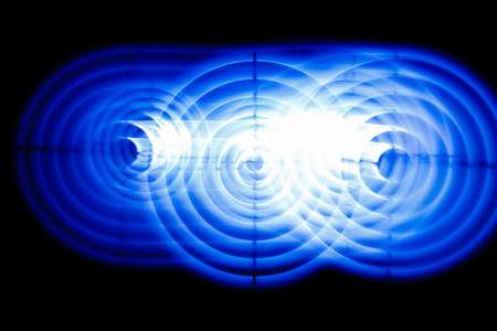 Sound waves in the dark in the dark