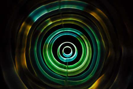 Sound waves in the dark in full color Stockfoto