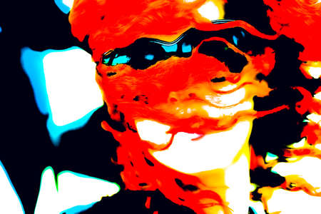 Pop art woman with glasses. Imagens