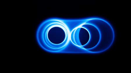 Sound waves in the dark in full color Banco de Imagens