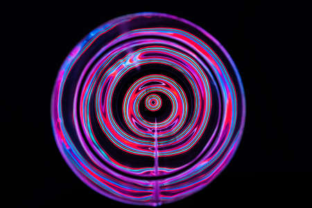 Sound waves in the visible full color in the dark