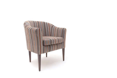 Classic soft chair. Isolated on white background with shadow