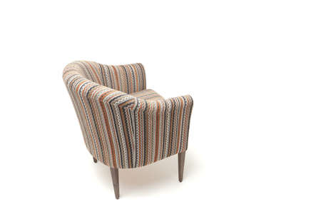 Classic soft chair. Isolated on white background with shadow Foto de archivo