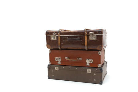 Suitcases on white background. Isolated on white background