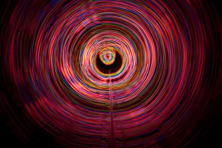 Sound waves in the visible full color in the dark Archivio Fotografico