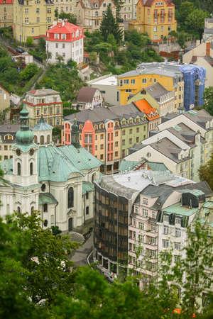 Karlovy Vary, Czech Republic - September 13, 2013: View during the morning run