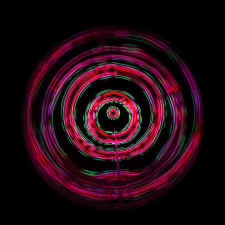 Sound waves in the dark in full color Stok Fotoğraf