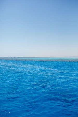 Photo of the red sea, bright sun