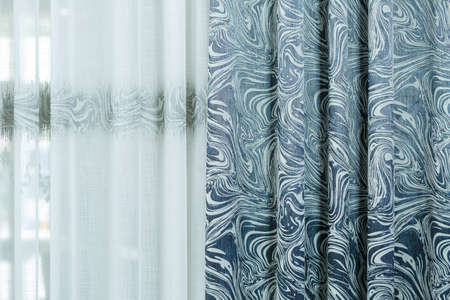 Curtains for windows, tulle for an apartment, a fabric store