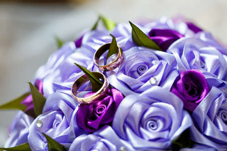 Golden wedding rings for newlyweds