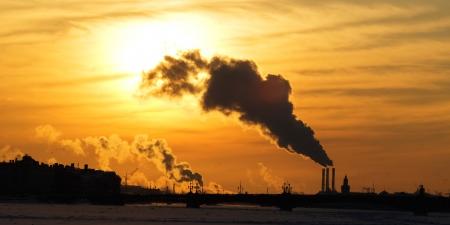 Paisaje urbano. Planta realiza un seguimiento de los problemas de contaminación de fumar y el aire en las grandes ciudades.