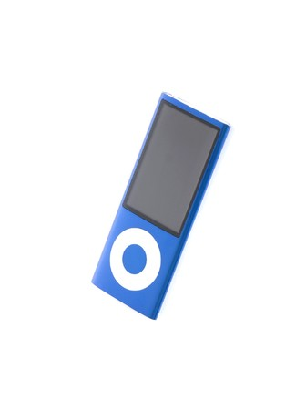 blue digital music mp3 player isolated on white background Stock Photo - 7487360