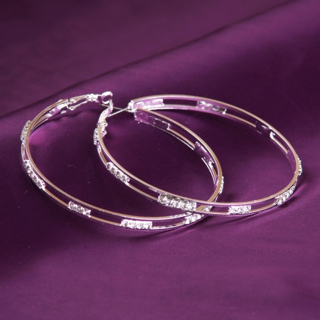 silver earrings Stock Photo - 15764523