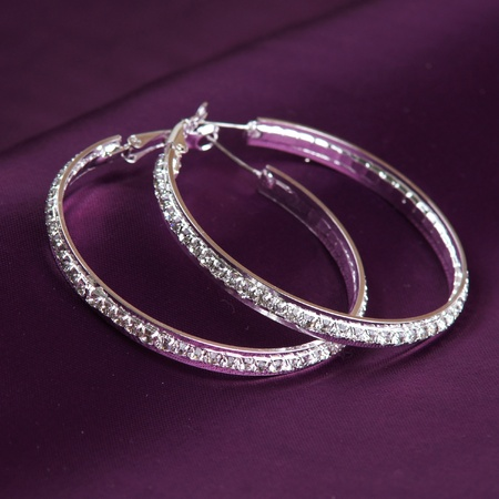 silver earrings photo