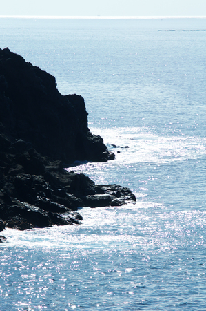 coastline: rocky coastline and azure ocean water