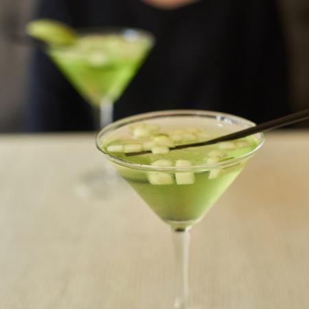 glasses of apple martini