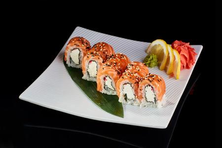 philadelphia roll: Sushi Roll Philadelphia Stock Photo