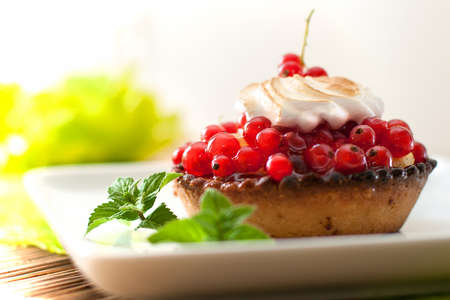 blueberry cheesecake: The big picture on delicious dessert cake with berries and cream Stock Photo