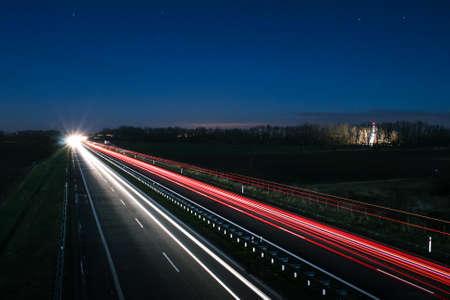 yom kipur: Highway at Night
