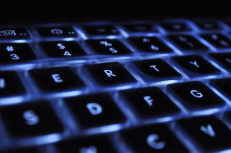 back-lit laptop keyboard Banque d'images