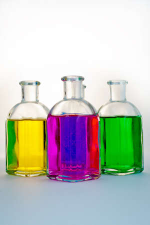 glass bottles: colored glass bottles