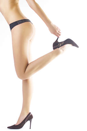 Nice and fit legs of young woman photo