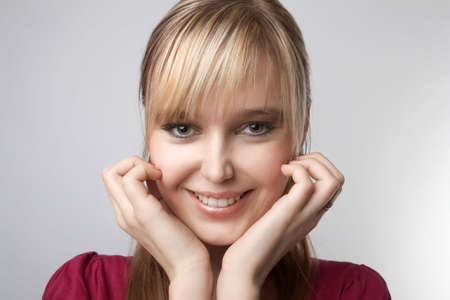 Young attractive girl smiling, close up portrait Stock Photo - 6082822