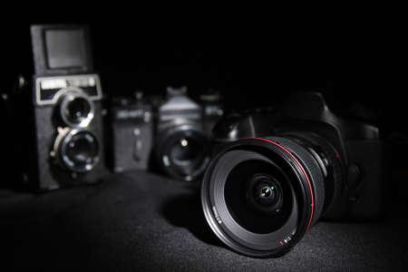 film history: Generations cameras. Digital and film.