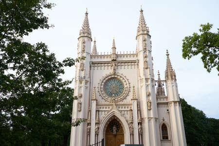 Gothic chapel in Peterhof. Petersburg