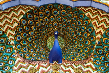 Art work in City Palace  Jaipur, Rajasthan, India photo