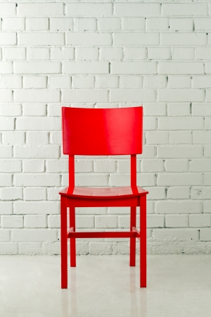 Red wooden chair  photo