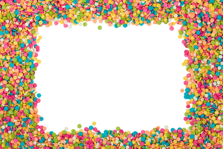 Colorful candy decoration frame  photo