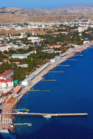 arial: Arial view of beautiful coastline in the Crimean Peninsula, Ukraine