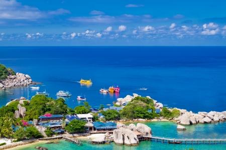 Beautiful tropical island  Koh Phangan island, Kingdom of Thailand photo