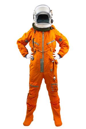 白い背景で隔離の宇宙飛行士