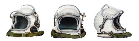 宇宙ヘルメット、白い背景で隔離のセットです。