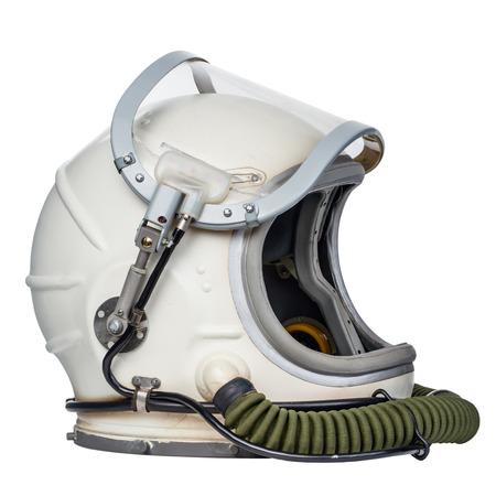 白い背景に対して分離されたスペース ・ ヘルメット。