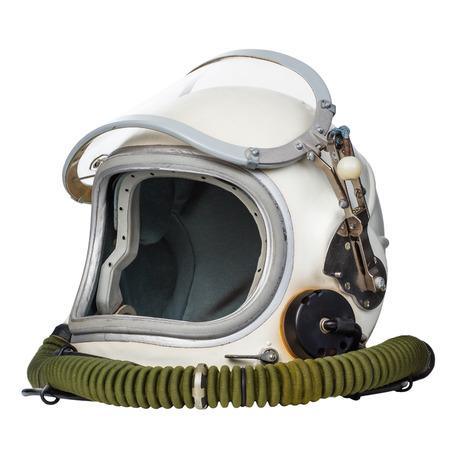 宇宙飛行士のスペース ・ ヘルメット、白い背景で隔離されました。 写真素材