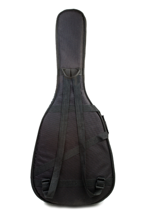 gig: Acoustic guitar gig bag isolated on a white background