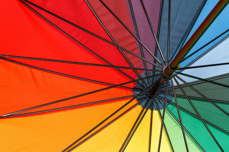 Colourful umbrella background photo
