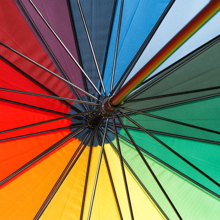 Close-up of a colorful umbrella photo