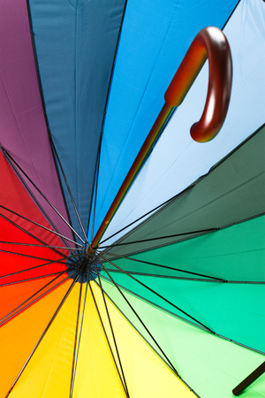 Colorful umbrella with handle photo