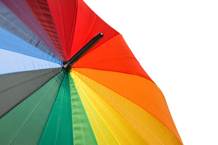 Colorful umbrella isolated on a white background photo