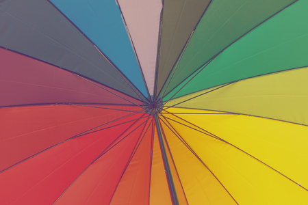 Colorful umbrella  Toned image photo
