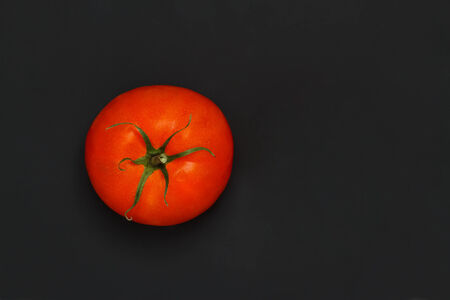 tomato plant: Tomato on a black background with copy space
