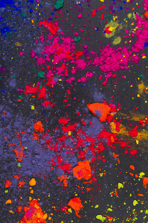 Colorful made of Indian holi dye photo