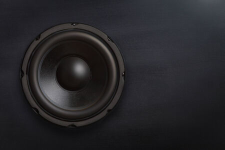 subwoofer: Subwoofer speaker with copy space