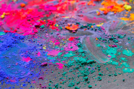 dry powder: Colorful background made of Indian dyes