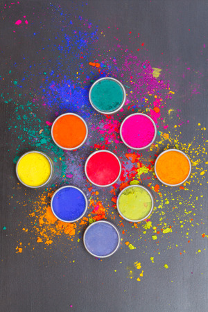 Indian colorful festival dyes photo