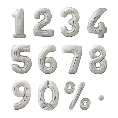 膨脹可能な風船で作られた数字セット